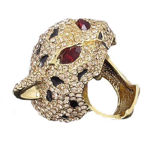 Bague Zircons Copie Joaillerie Leopard Yeux Pierres