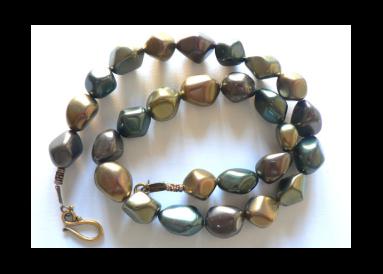 parure complète perles baroques nacre métallisé