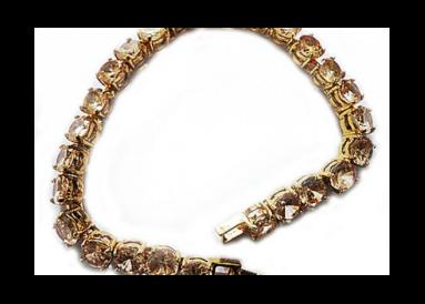 Bracelet zirconia topaze fumée vue globale