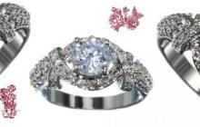 bague zirconia reproduction diamant