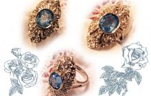 hollywood collection zirconia topaze bleue