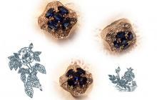 hollywood collection bague zirconia saphir