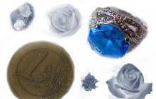 Bague argent avec topaze bleue
