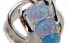 Bague argent avec opale de feu bleue