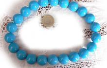 perles plastique turquoises