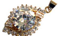 pendentif zirconia diamant