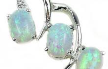 pendentif opale sur argent 925