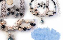 parure fantaisie avec perles de nacre