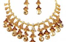 Parure strass pampilles rondes