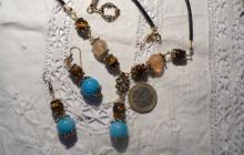 oeil du tigre, quartz bleus et agathes