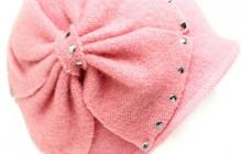 Chapeau laine rose