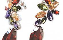 Grandes boucles zirconia multicolores vue globale