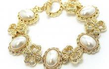 perles sur marcassite dorée (imitations) vue globale
