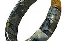 Bracelet pietersites polies montées sur élastique