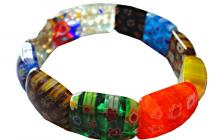 Bracelet élastique millefiori vue globale