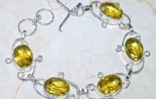 Bracelet argent citrines vue globale