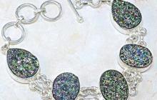 Bracelet argent titanites vue globale